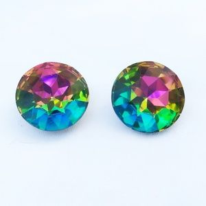 AWESOME Vintage Prismatic Crystal Disco Earrings
